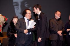 President of the Jury, pianist Cyprien Katsaris, with finalist, Danylo Mascetti.jpg