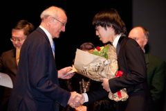 President of the State Conservatory of Thessaloniki, professor Charalampos Lefakis with the 2nd Prize winner, Xingyu Lu.jpg
